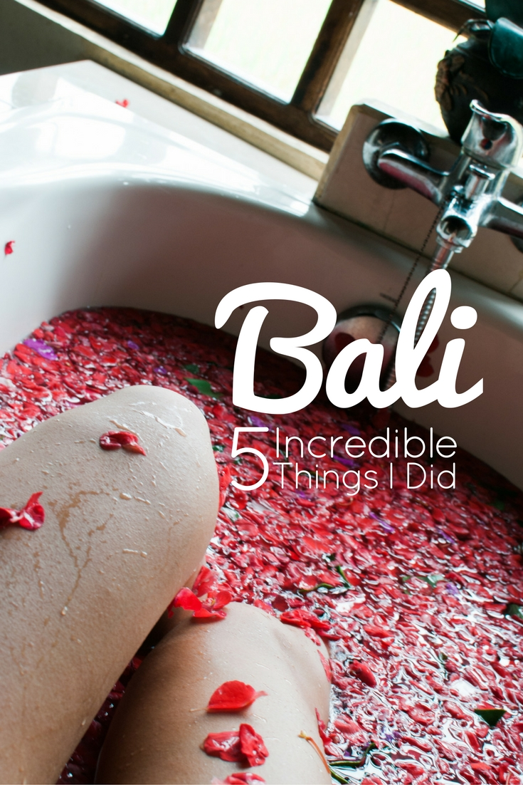 bali incredible things to do