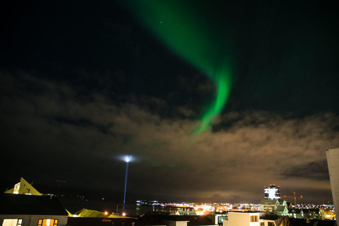 reykjavik aurora borealis
