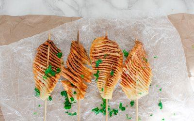 Accordion Potatoes Using the Air Fryer TikTok Viral Recipe