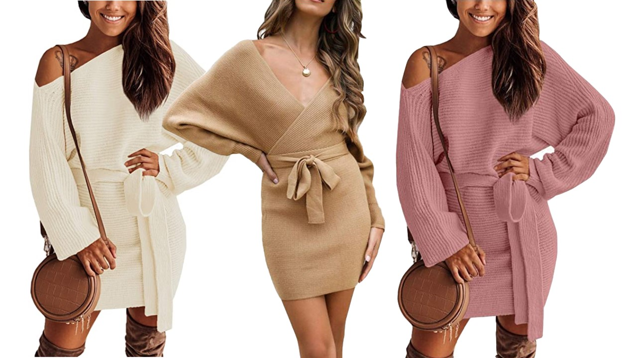 amazon sweater dresses tiktok