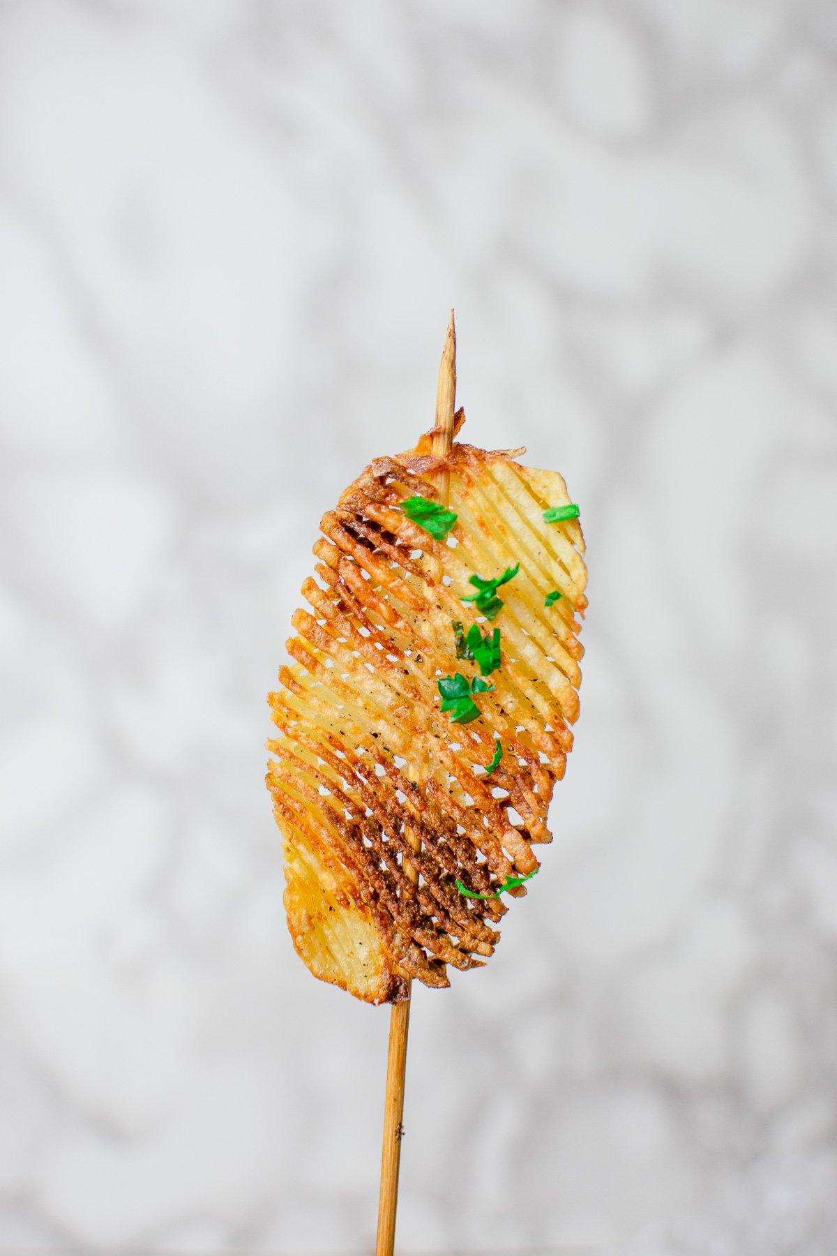 baked accordion potatoes