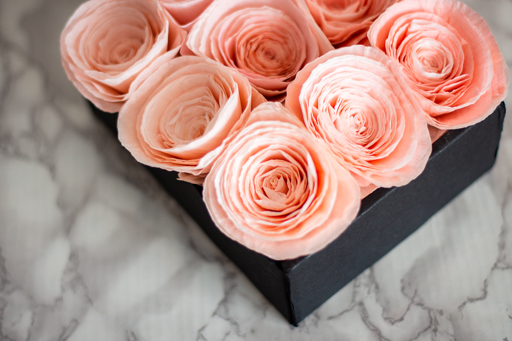 The Prettiest Rose Box Arrangement to Make for Valentine's Day