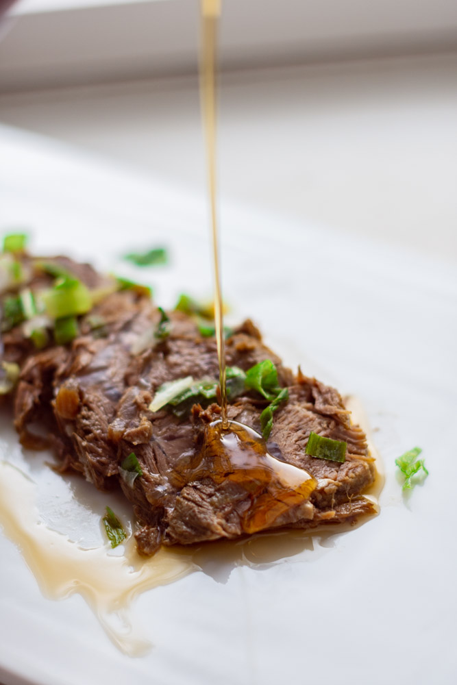 chinese braised beef shank appetizer