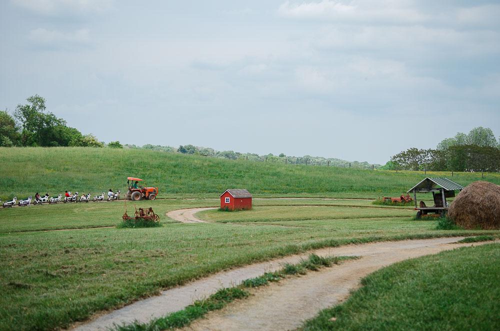 clarks elioak farm cow train