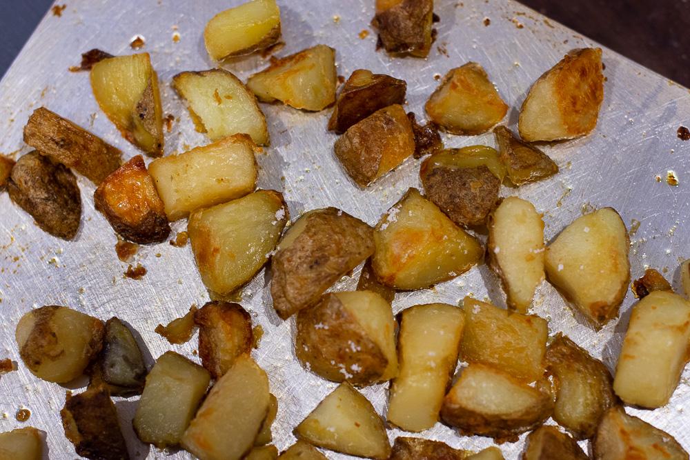 cripsy roasted potatoes tikok