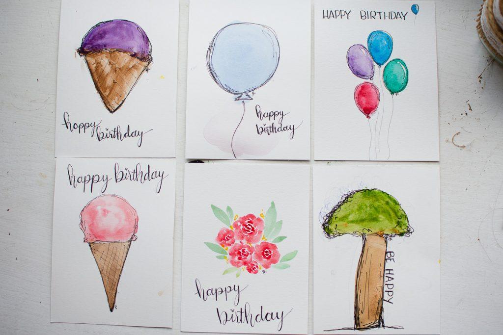easy watercolor card ideas
