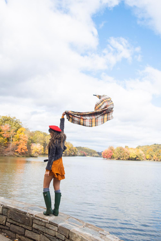 fall photo session washington dc
