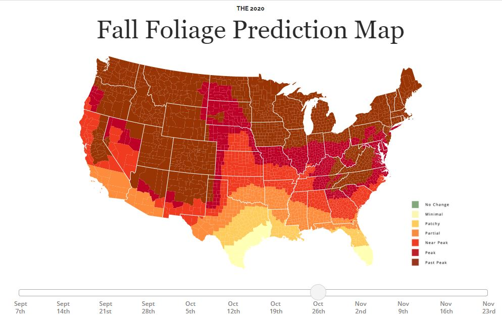 maryland fall foliage map 2020