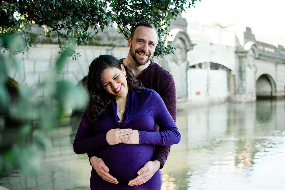 Washington DC Winter Maternity Photo Session Charis + Chuck