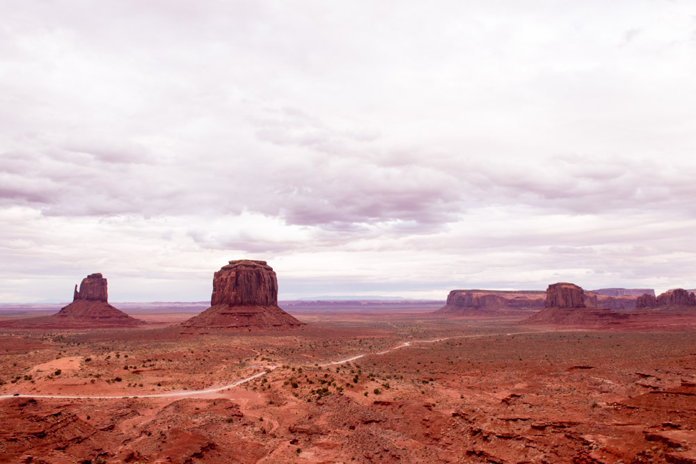 monument valley view sunset