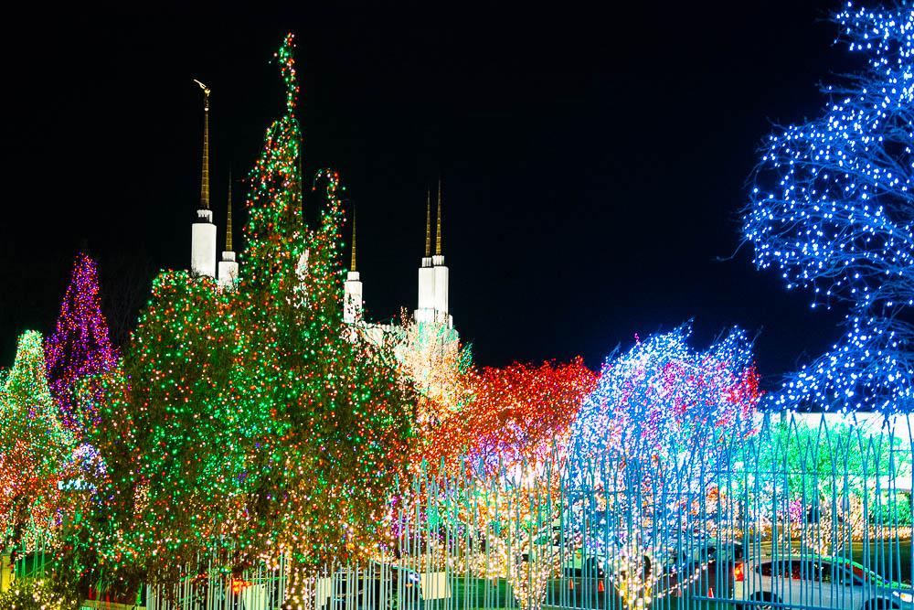 mormon temple lights dc