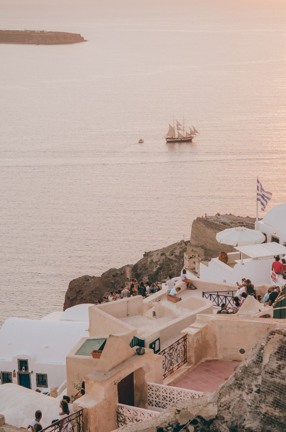 oia sunset view