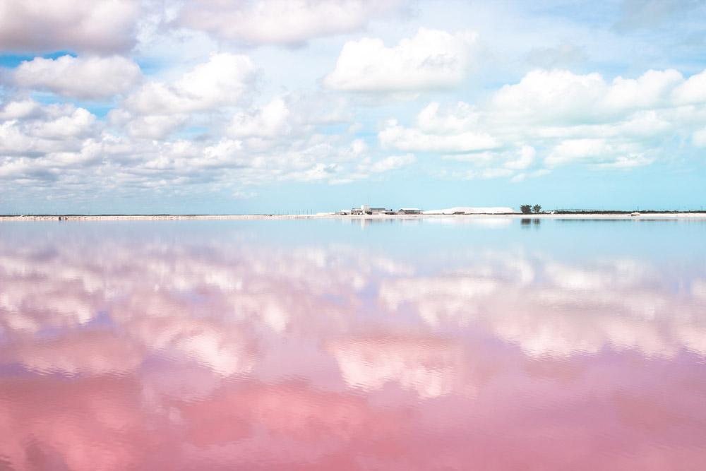 pink lagoon cancun mexico