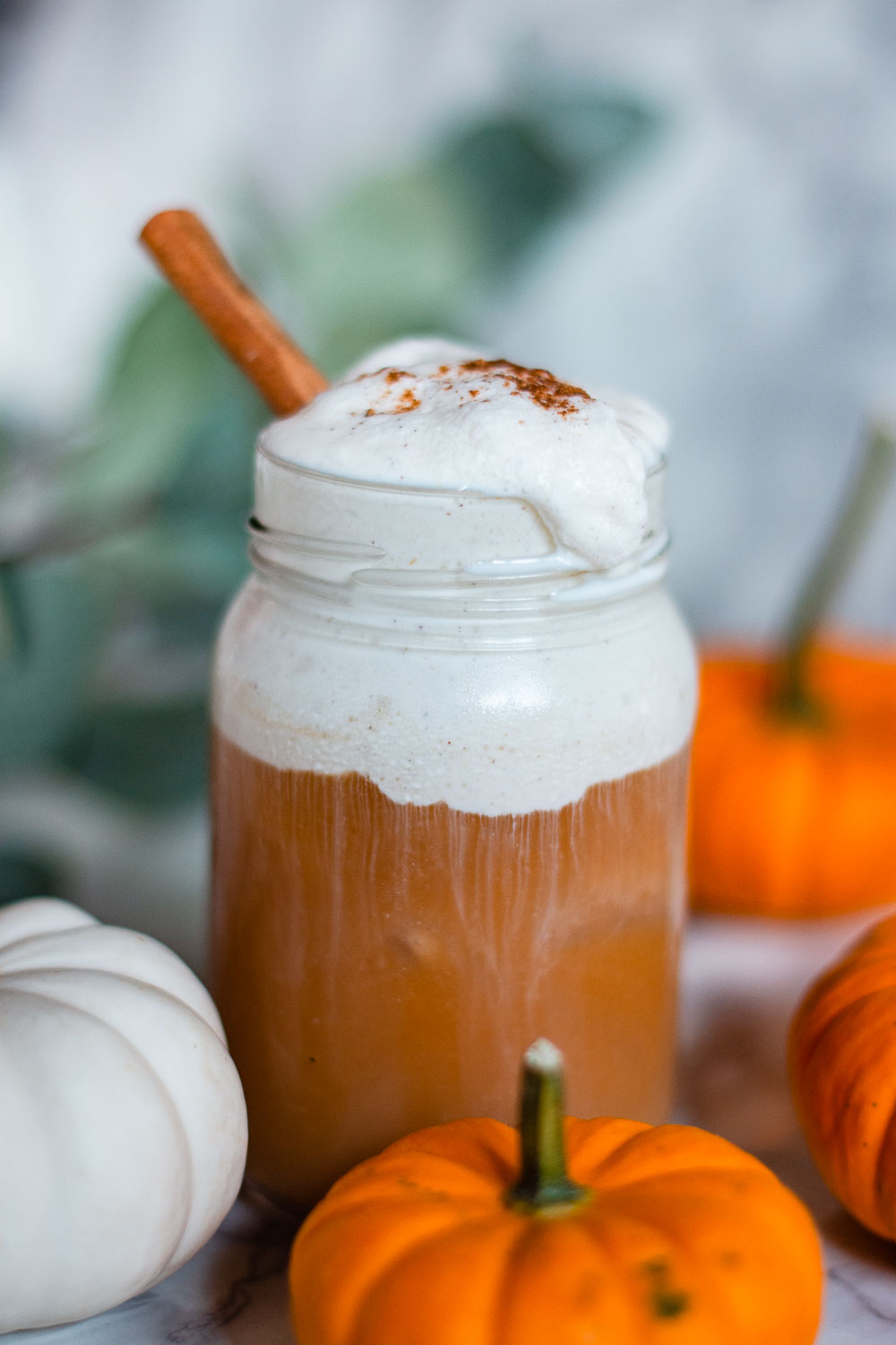 pumpkin cream chai latte