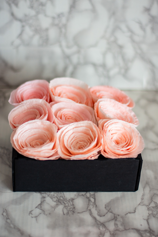 rose box arrangement diy