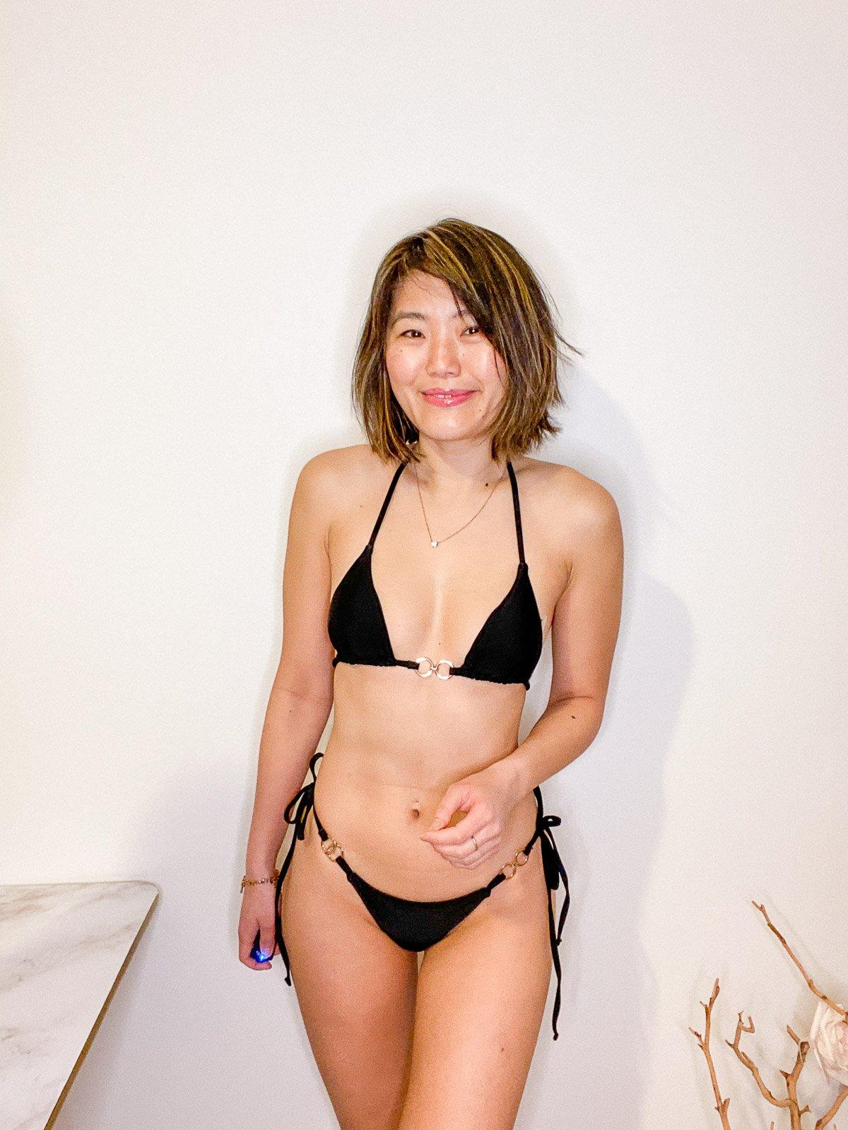 shein triangle bikini review