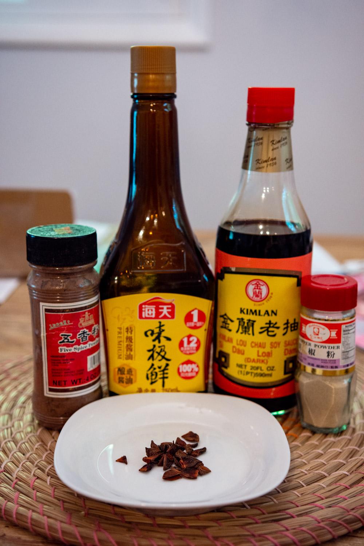 taiwan braised beef shank ingredients