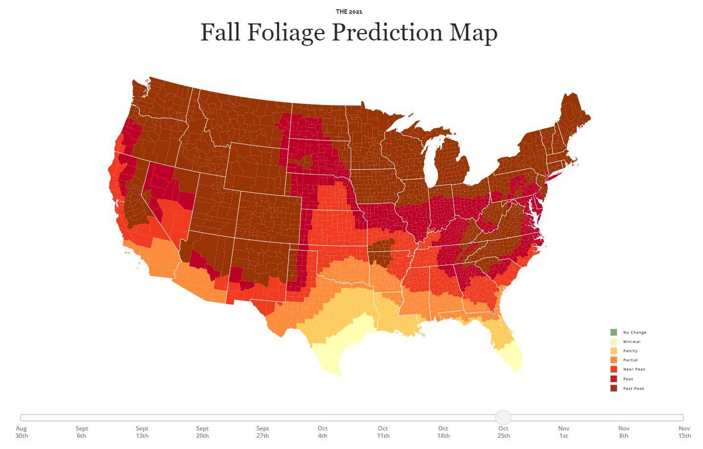 virginia peak fall foliage map 2021