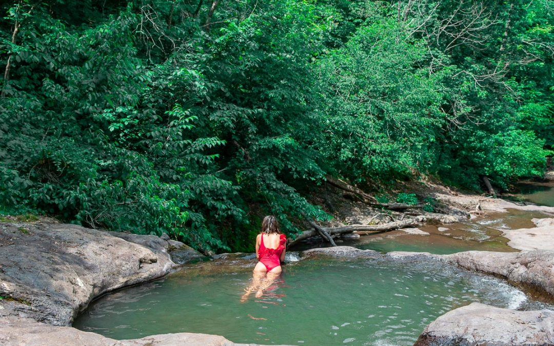 Secret Waterfall in Shenandoah National Park