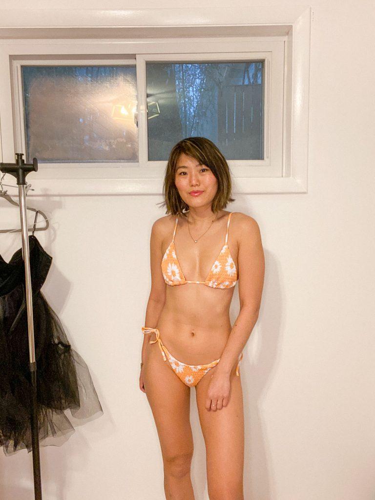 zaful smocked bikini
